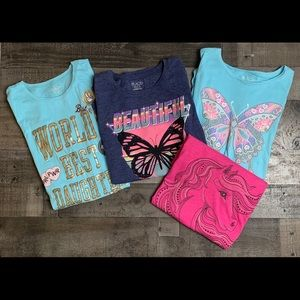 CHILDRENS PLACE Lot of 4 Tops Horse Butterfly 16